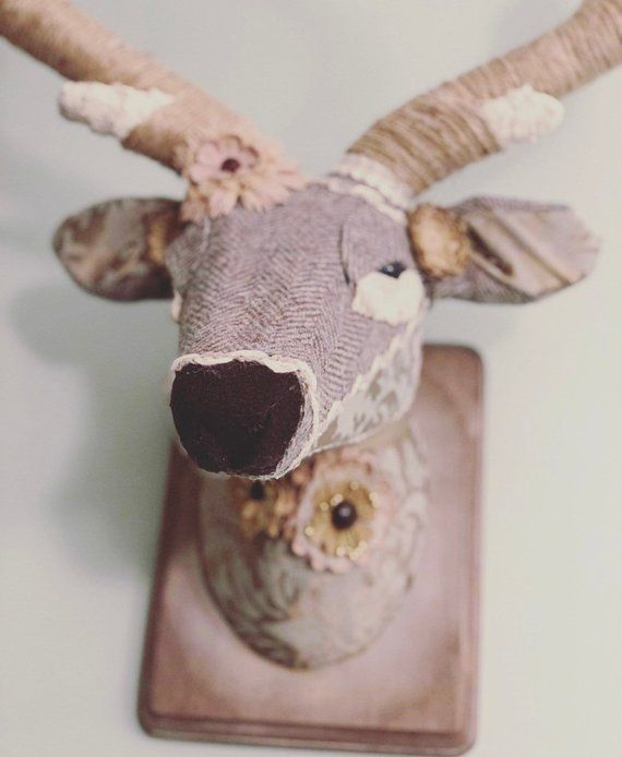 Deer Head Deer Mount Fauxidermy Wall Mount Paper Mache Etsy