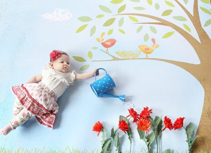 Newborn baby photo idea