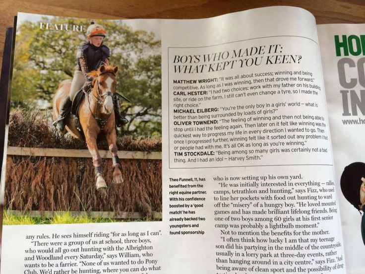 Fantastic to see our Harry Hall riders in the press this week! Theo Funnell featured in Horse & Hound & Beth Mantel in British Showjumping Magazine talking about her #HOYS win!
