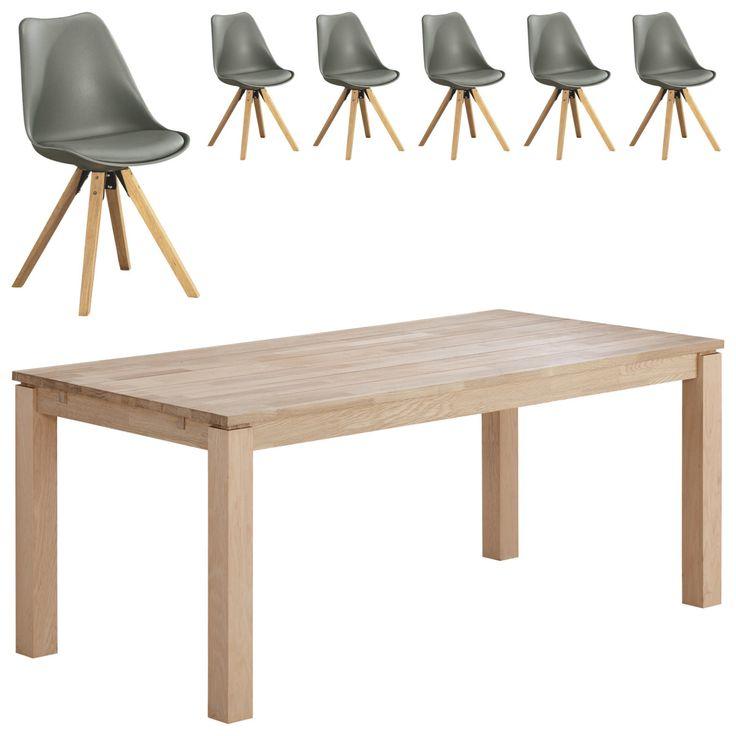 Essgruppe Skanderborg/Blokhus (90x180, 6 Stühle, grau) Jetzt bestellen unter: https://moebel.ladendirekt.de/kueche-und-esszimmer/stuehle-und-hocker/esszimmerstuehle/?uid=709896de-f510-54a4-a50e-c32d5491a2c9&utm_source=pinterest&utm_medium=pin&utm_campaign=boards #essgruppen #kueche #esszimmerstuehle #esszimmer #hocker #stuehle Bild Quelle: www.daenischesbettenlager.de