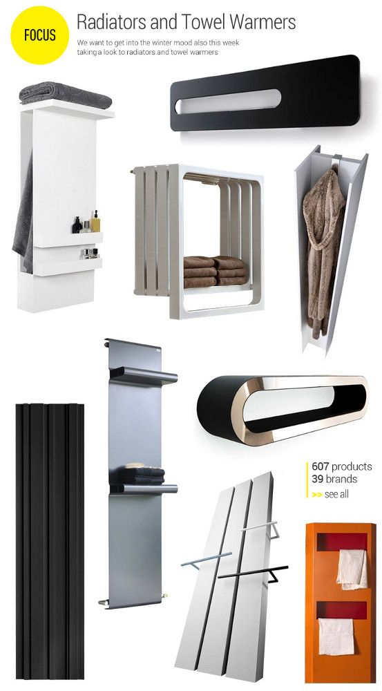 Focus on Radiators and Towel Warmers - We want to get into the winter mood also this week taking a look to radiators and towel warmers.