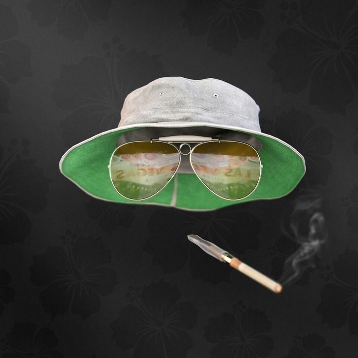 """Guess who?""   Raoul Duke from Fear and Loathing in Las Vegas. Hat from turbosquid, rest modeled in NX. Rendered in Keyshot."