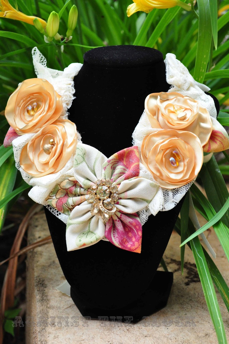 best fabric flowers images on pinterest