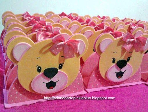 Pinkie Blue Artigos para festa: Porta-guardanapo Ursinhas
