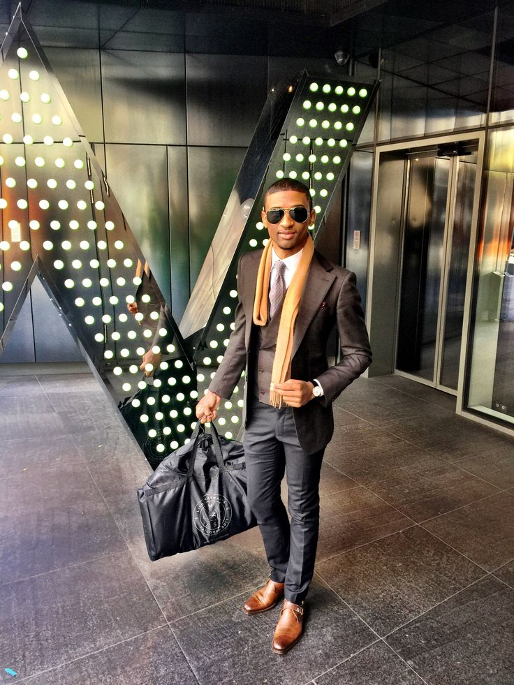 LM Tailored Suit in London. Worn by Linda Makhanya