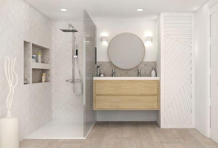 Les 25 meilleures id es concernant salles de bains grises - Peinture hydrofuge douche ...