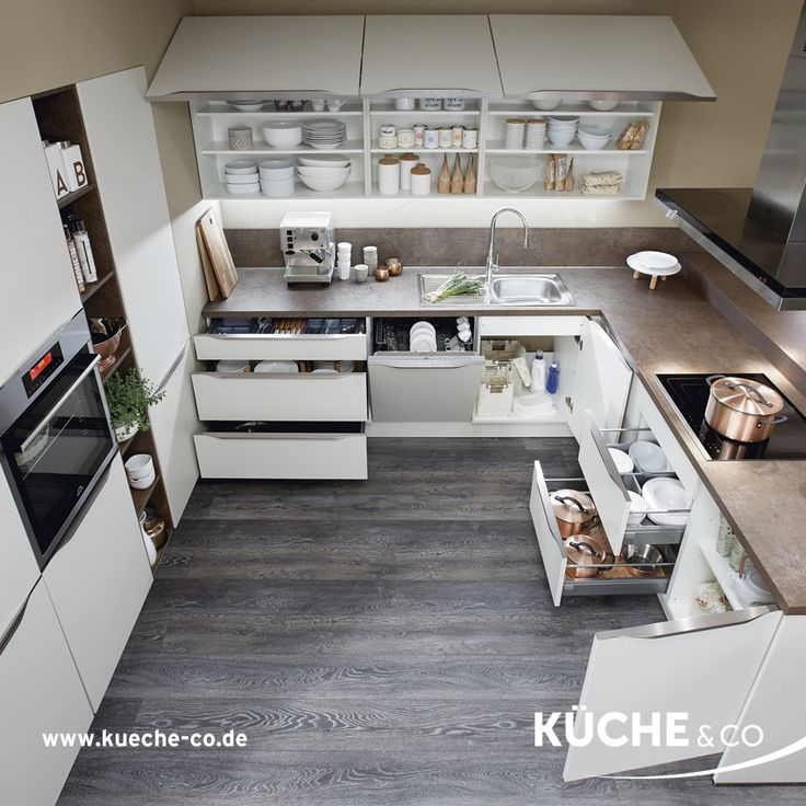 Moderne Küche In Magnolia Supermatt Küche Ordnungsliebe In