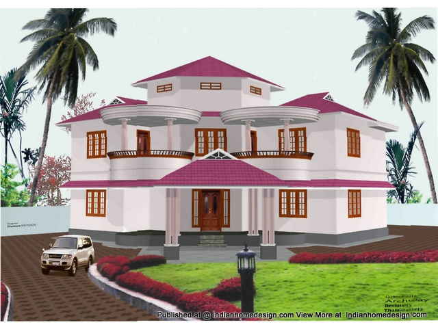1 beautiful photos of indian home exterior design 2 for Exterior indian house paint