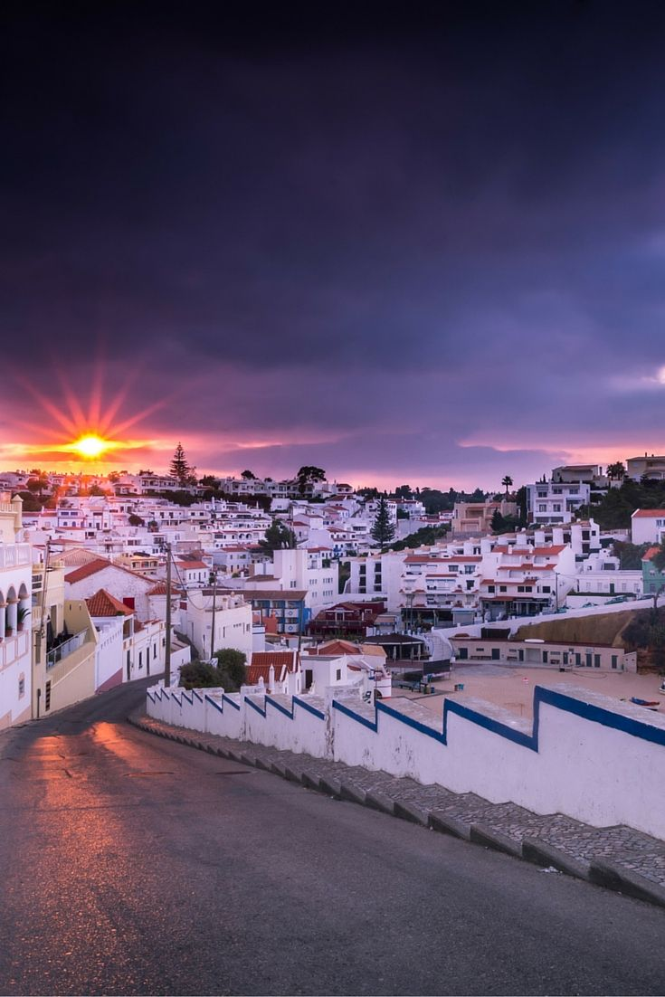 Beautiful small town of Carvoeiro on the Portuguese coast. Click through to see 25 more of the most beautiful villages in the world!