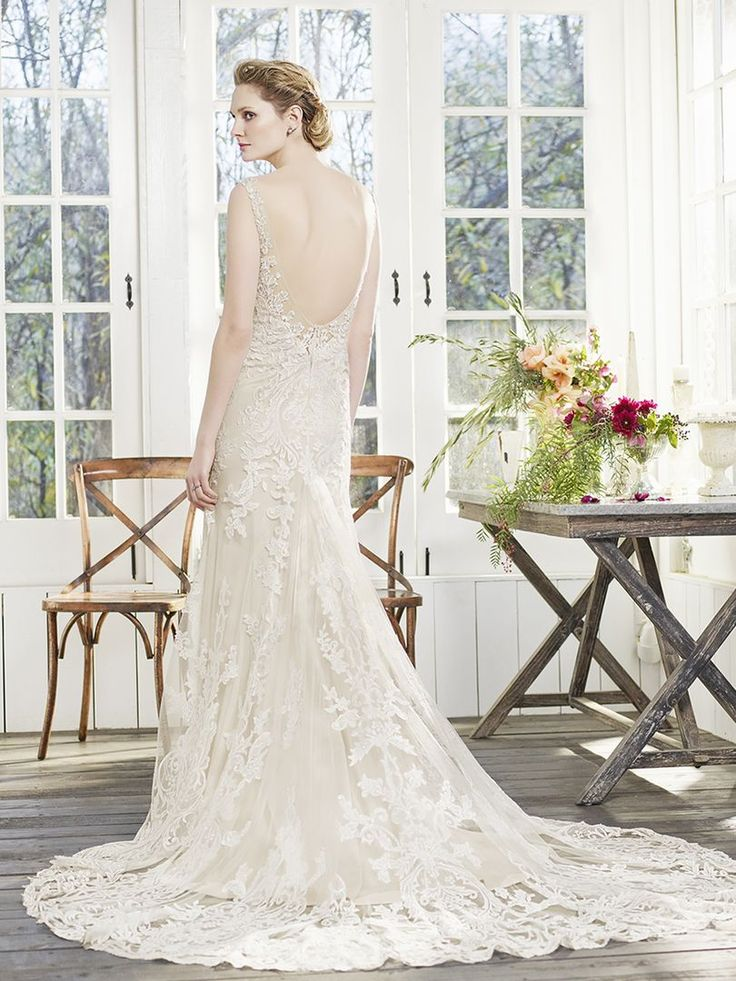 1000 images about low back gowns on pinterest lace for How much are casablanca wedding dresses