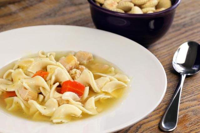 Made from scratch, this hearty chicken soup with noodles is a favorite comfort food.