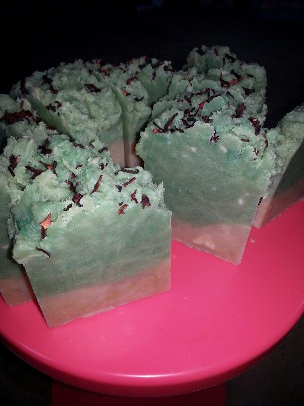 Lime and coconut milk soap.. smells delicious
