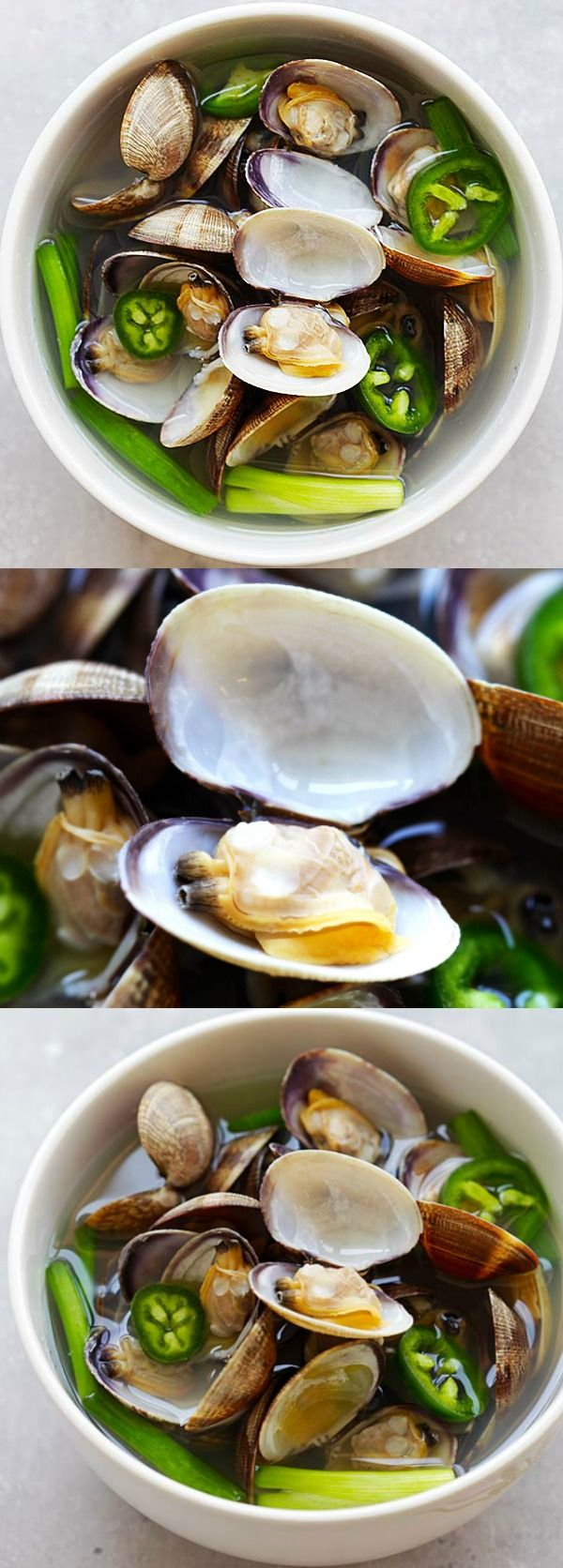 Korean Clam Soup – savory and briny clam soup with jalapeno and garlic. Easy recipe that takes only 10 minutes to make and so delicious | rasamalaysia.com