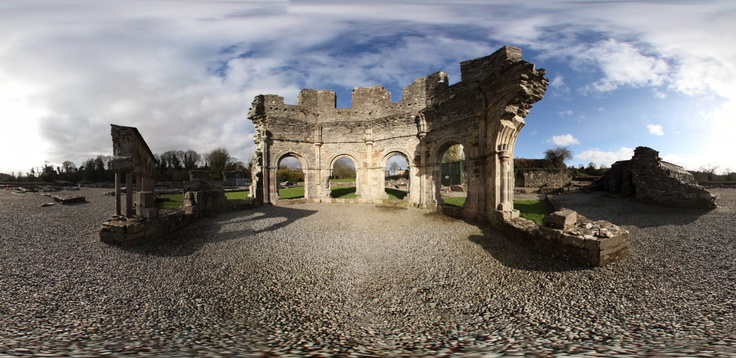 The Old Mellifont Abbey - Ireland  By Rubens Cardia
