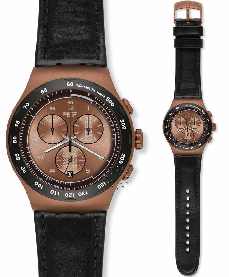 SWATCH The Copper Brown Leather Strap Τιμή: 172€ http://www.oroloi.gr/product_info.php?products_id=35288