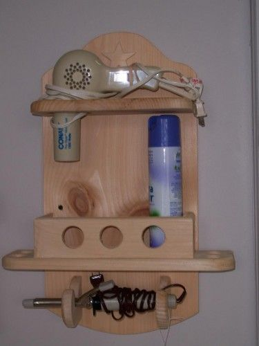 Bathroom Accessories Hair Dryer Holder 15 best wooden hot hair appliance holders images on pinterest