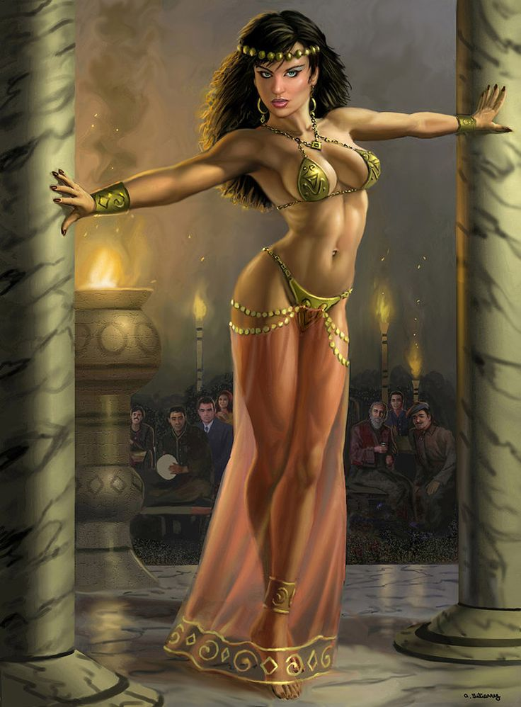 Nude egyptian dancer
