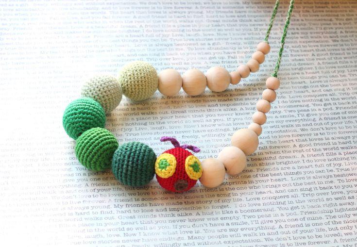 Grüne Raupe Krankenpflege-Halskette von ForeverValues auf Etsy