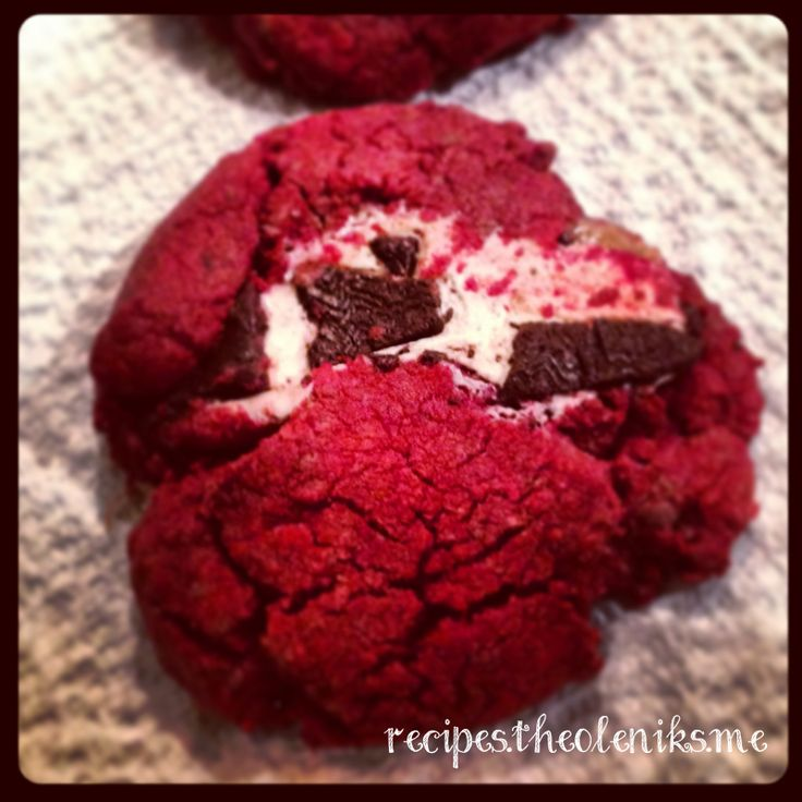 Red Velvet Milky Way Cake Cookies | Cake mix recipes | Pinterest