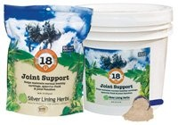 $68.40-$111.95 Silver Lining Joint Support - Who doesn't worry about their hard-working or aging horse's joints? #18 Joint Support may be helpful in supporting the manufacture of synovial fluids to keep the body and its joints functioning as designed. This herbal blend may be beneficial for creaking, sore, or other general joint issues, and low synovial fluid or dry joints.Contains burdock, butch ...