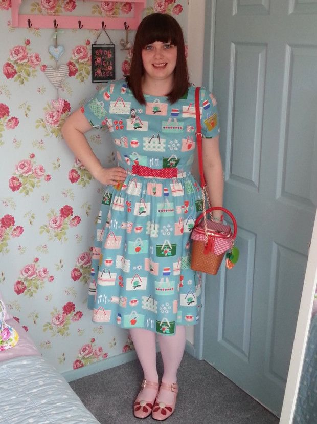 Picnic dress - Christine Haynes Emery dress in Cotton & Steel picnic baskets fabric