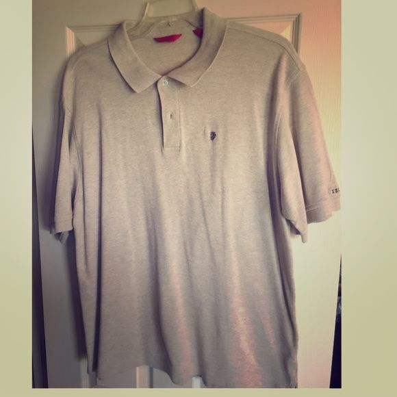 MENS white/light grey polo shirt MENS white/light grey polo shirt. Worn a couple times. Size XXL IZOD Tops