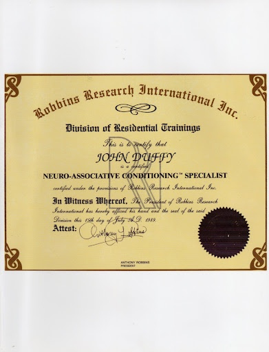 certification nac conditioning neuro associative received training uploaded user