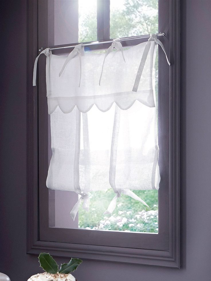 1000 images about tie up curtains on pinterest french - Rideaux brise bise cuisine ...