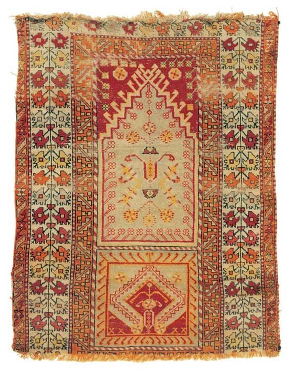 Turkish Rug From Manisa Saruhanli 20th Century West Anatolia Seccade Halilar Hali