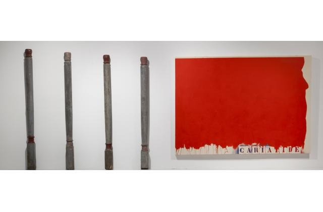 Richard Mill | RM 1440 (Cariatide) | Acrylique sur toile et objets (acrylic on canvas and objects) |2011