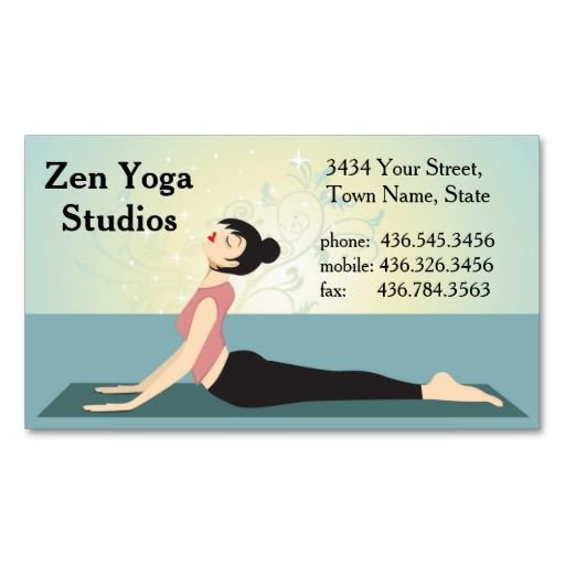 43 best yoga and meditation business cards images on pinterest zen zen yoga instructor or trainer business card reheart Choice Image
