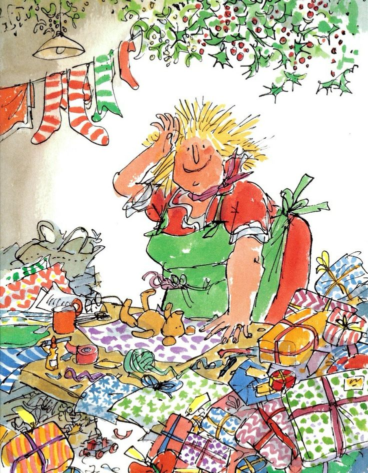 Quentin Blake illustration. Roald Dahl