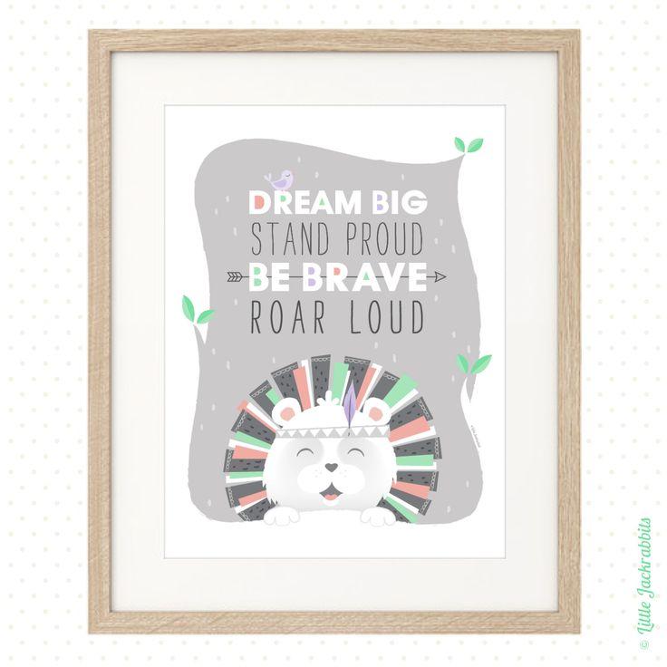 Roar loud - digital art print