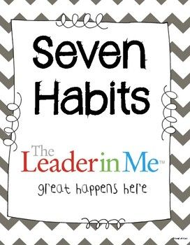 7 Habits Classroom Posters (The Leader in Me)