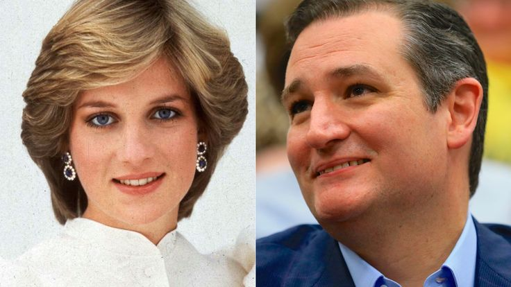 Is Ted Cruz the Tragically Deceased Princess Diana? Ted Cruz has been popping up in all sorts of crazy places recently. First, we found out he was the famed Zodiac Killer. Then he was the lead singer of Christian metal band Stryper. But the internet's found Ted Cruz's uncanniest match yet: The late Queen of People's Hearts. Yes—Ted Cruz is Princess Diana.