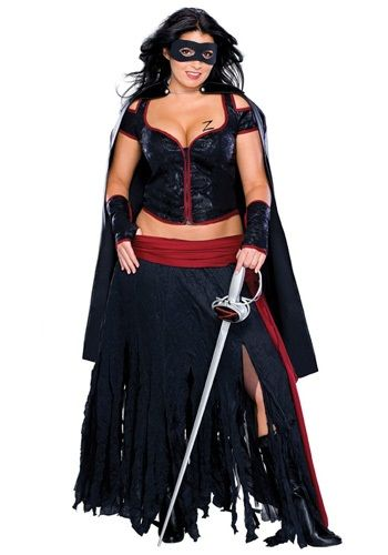 Plus size zorro costume