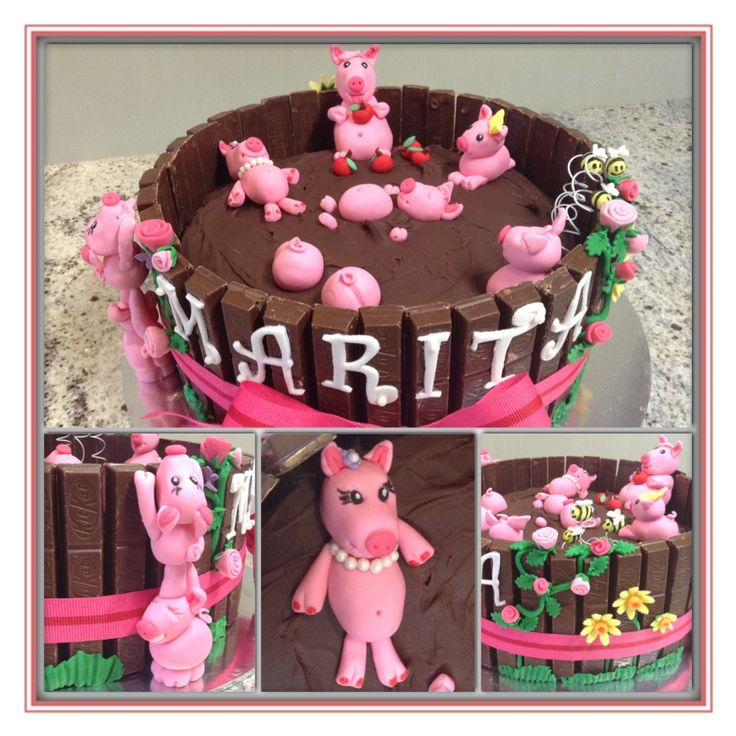 Another twist on the pigs in mud cake