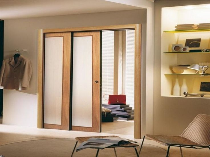 Double Pocket Door With Frosted Glass