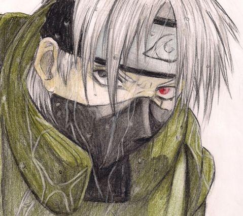 Kakashi from Naruto Shippuuden Manga, pensil drawing. https://www.facebook.com/rysunki.nierealistyczne.dorkaart/