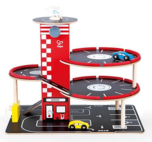 Hape Garage Play Set Toddler Wooden Play Vehicle Sets - Toys 4 My Kids