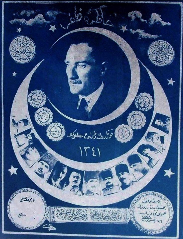 Memory of Victory, 1925 - Türk Kurtuluş Savaşı - Vikipedi-Atatürk ve silah arkadaşları