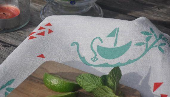 Seeking Refuge in Dreams Screen Printing 100 Linen by SeeYouAtHome