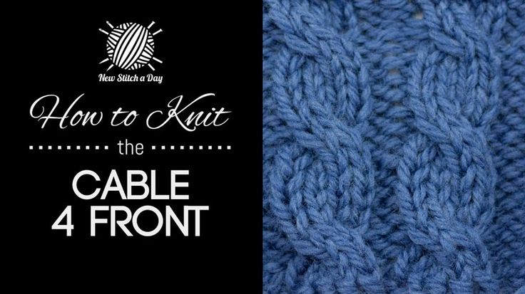 Complicated Knitting Stitches : How to Knit the Cable 4 Front Stitch/ This technique is used in many more com...