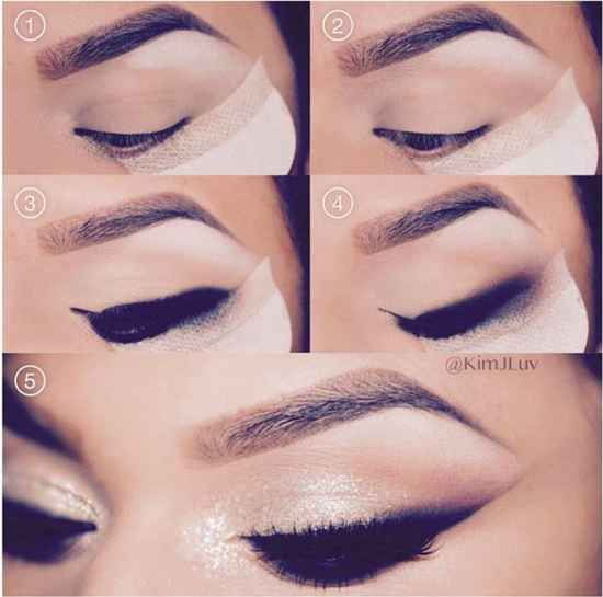 Shadow Shields It's a simple cotton shield with an adhesive edge that you can stick under your eye as you're applying makeup. When you're done, peel off the shield and the makeup will have a clean edge with no fall out.