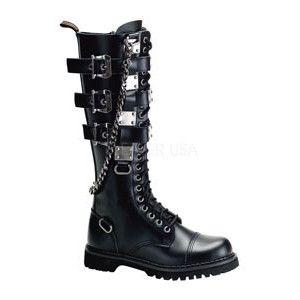 Katrina's black combat boots