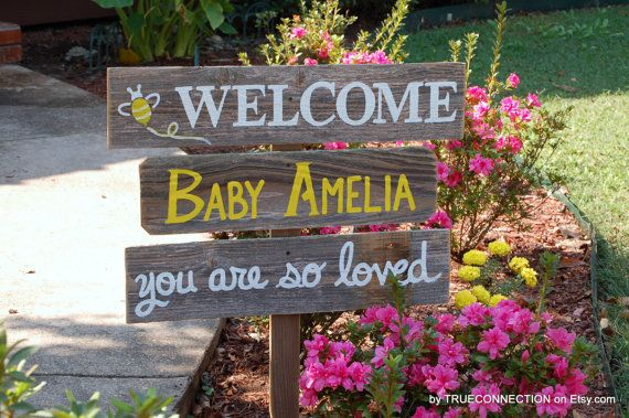 Baby Yard Sign Baby Shower Sign Decorations Its by TRUECONNECTION                                                                                                                                                                                 More