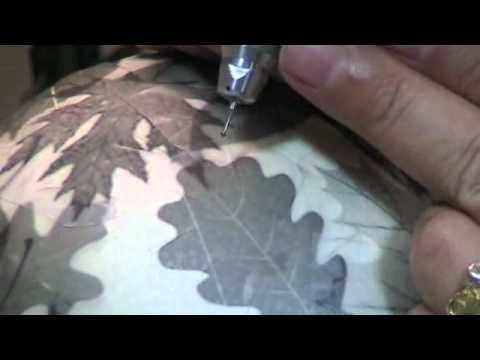 Ostrich Egg Relief Carving - YouTube