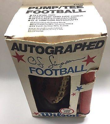 Vintage OJ Simpson Football Tee And Pump Rare Misprint  | eBay