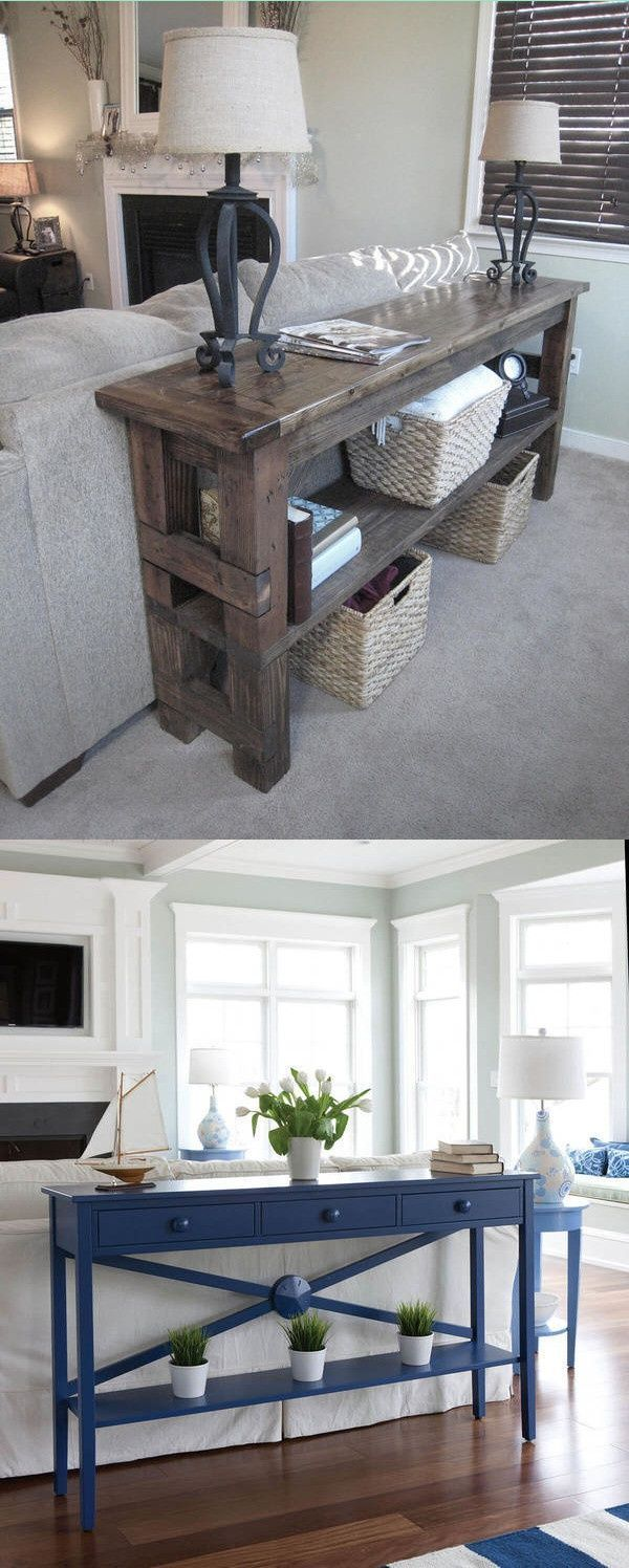24 Console Tables Behind Couch Decor Ideas My Life Spot Cou Table - Behind Couch Sofa Table Decor Ideas