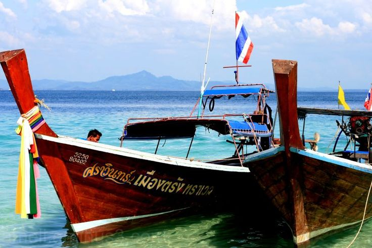 Boats, Pakmeng, Thailand by Ameli